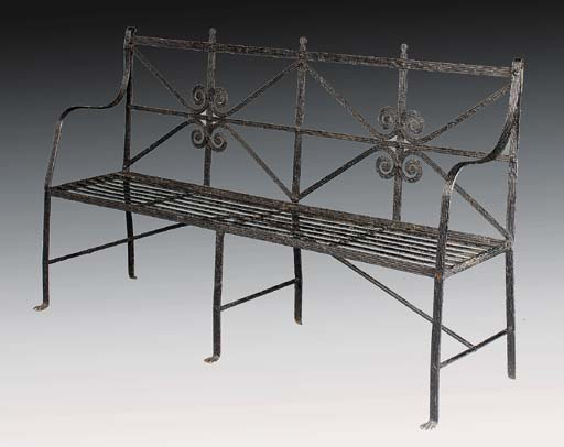 A Regency wrought iron garden