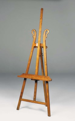 A walnut gallery easel, late 1