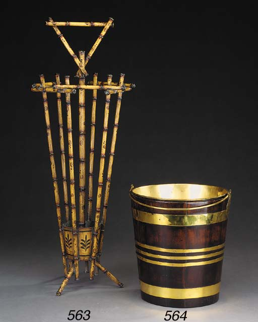 A Dutch brass bound mahogany b