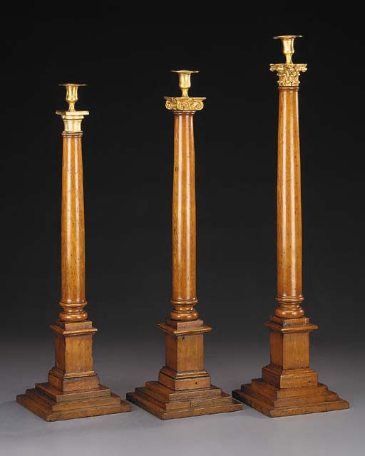 Three gilt brass mounted oak c