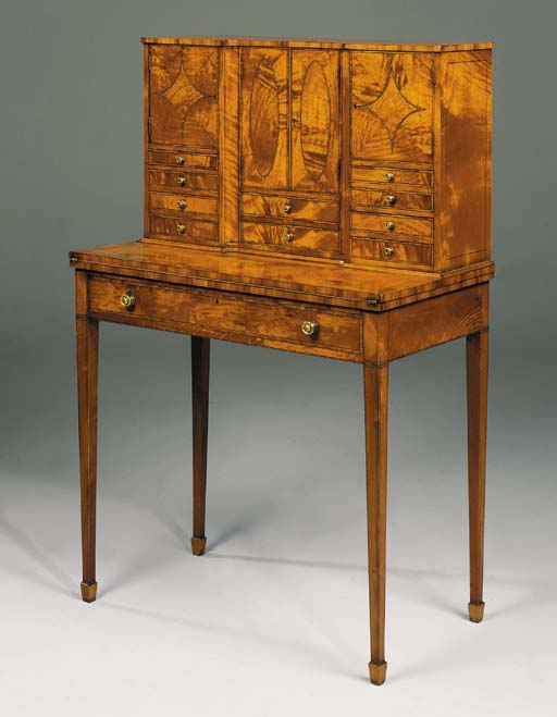 A LATE VICTORIAN SATINWOOD BON