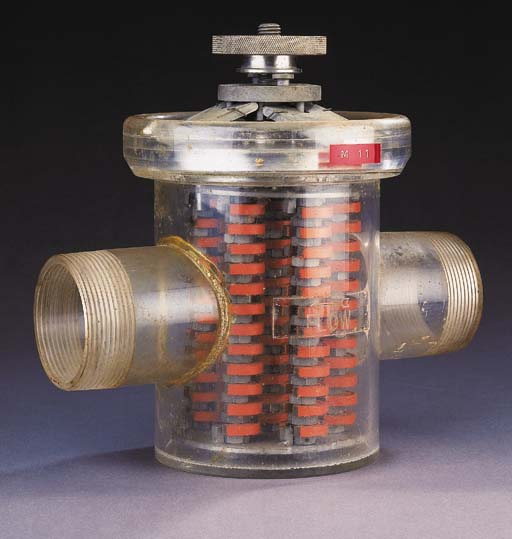An Eriez magnetic trap mounted
