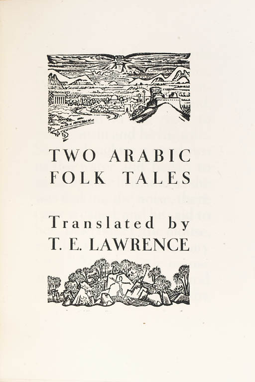 LAWRENCE, T.E. (translator). T