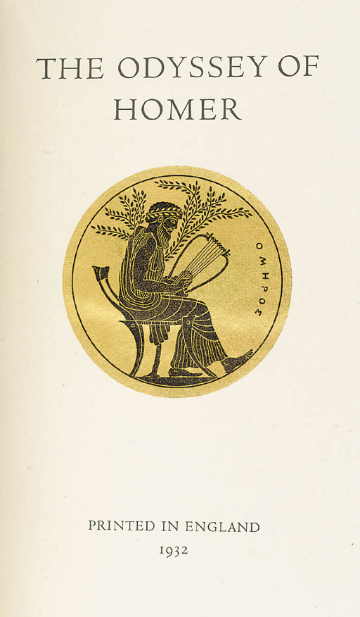 HOMER. The Odyssey, translated