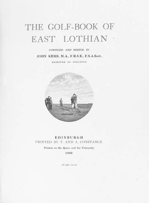 KERR, John.  The Golf-Book of