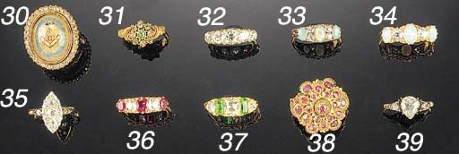 A 19th Century gold and ruby r