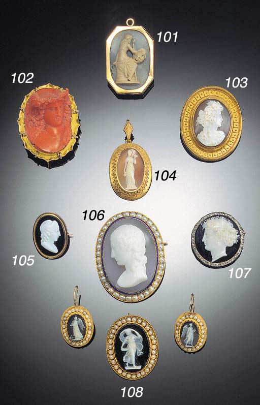 A 19th Century gold and coral