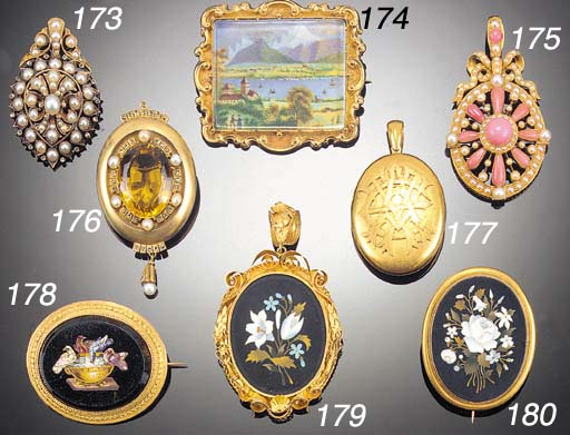 A 19th Century gold and pearl