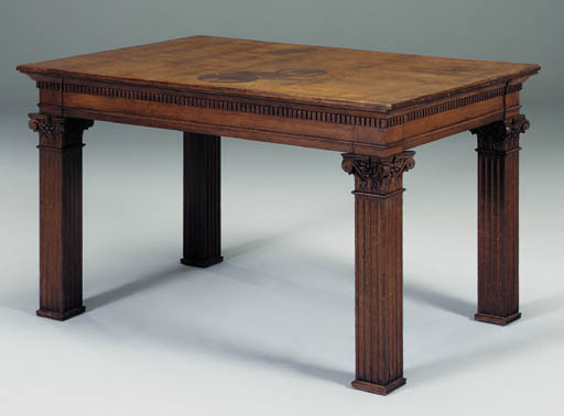 An oak centre table, early 20t