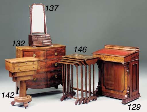 A late Regency mahogany bowfro