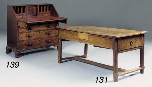 A late George III mahogany bur