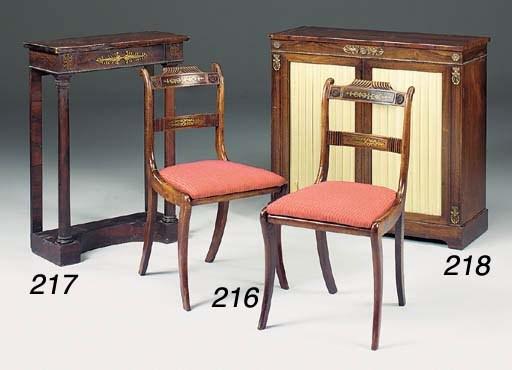A set of four Regency simulate