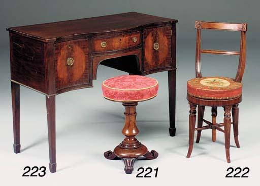 A Regency adjustable mahogany