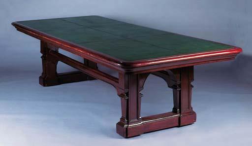 A mahogany library table, late