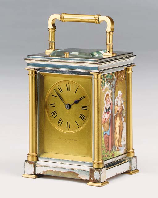 A French parcel-gilt, nickel-p