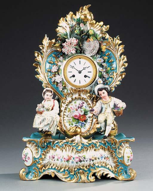 A French porcelain striking ma