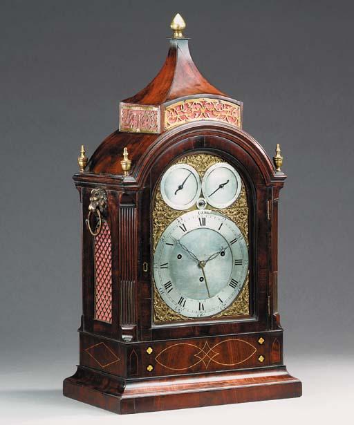 A George III mahogany quarter-