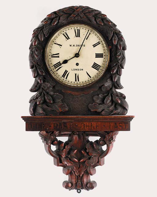 A late Victorian carved and st