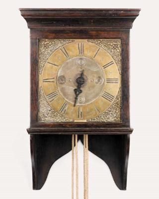 A George III oak 30-hour hoode