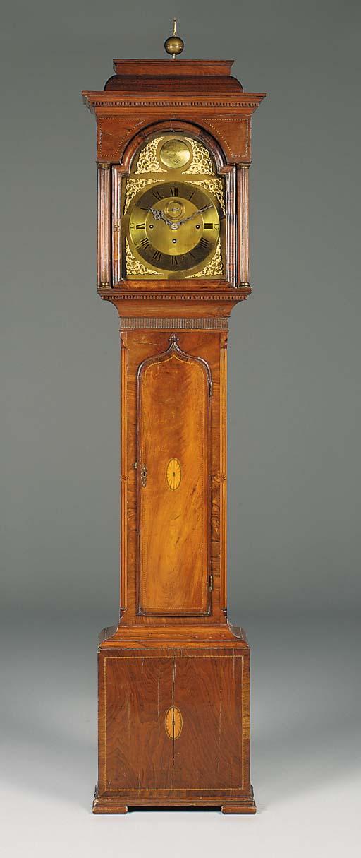An English mahogany and inlaid