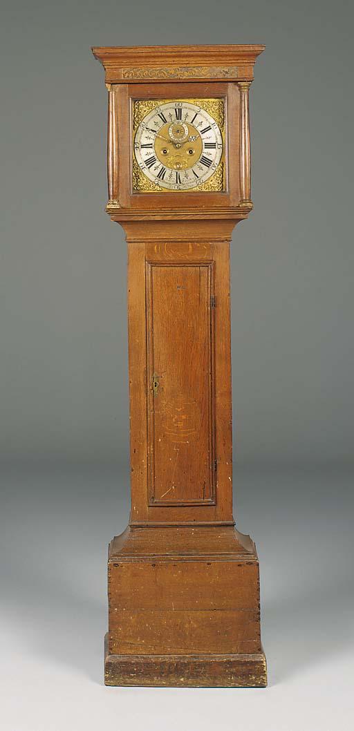 An English oak longcase clock