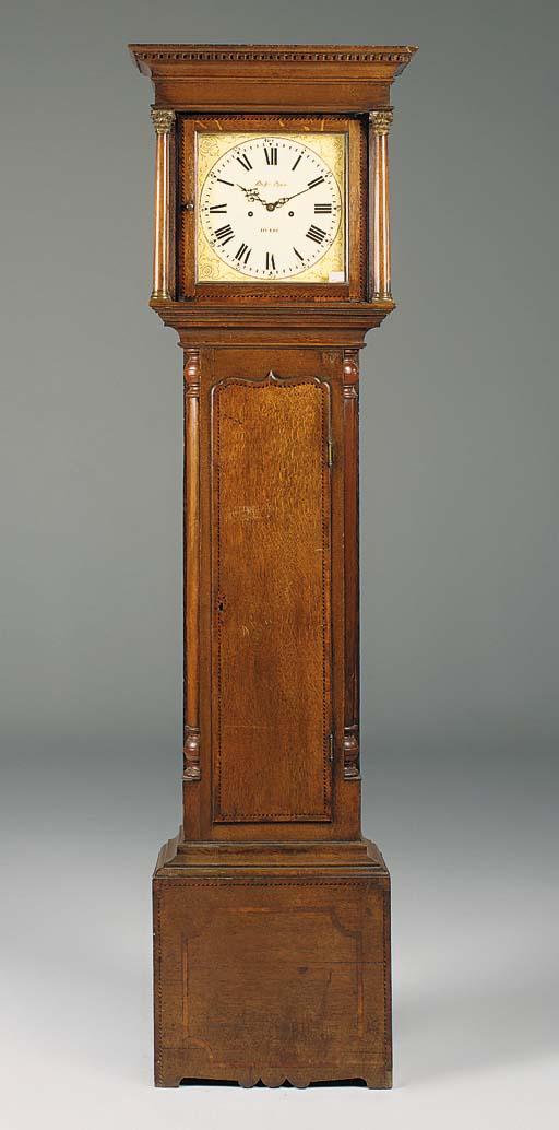A Victorian oak longcase clock