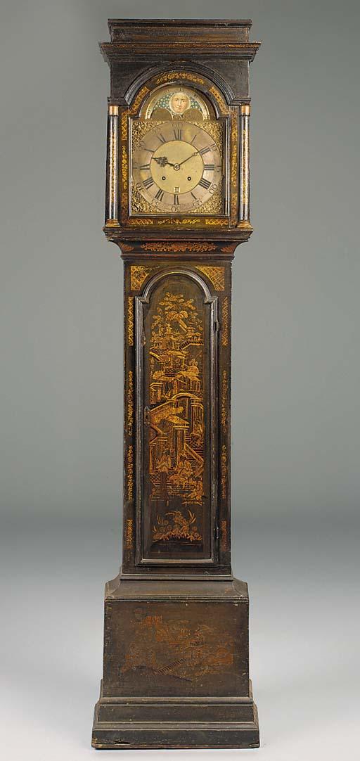A George II japanned longcase