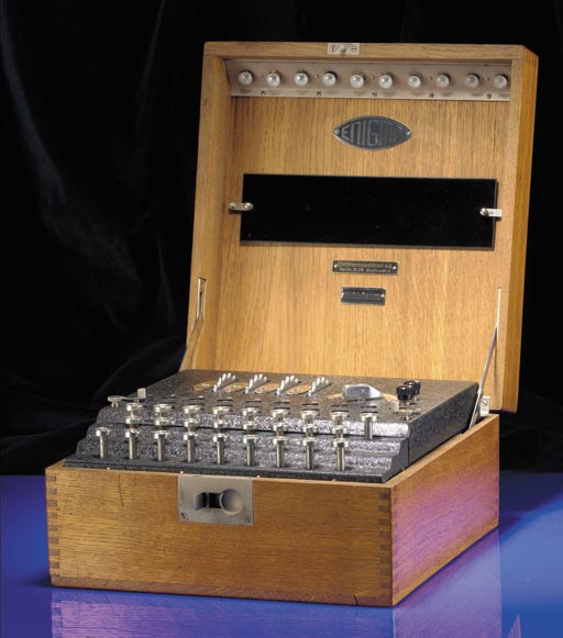 A four-rotor Enigma encipherin