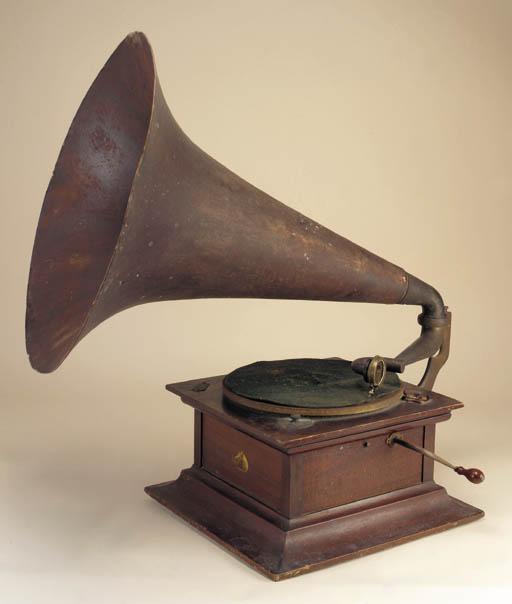 An HMV Model VII gramophone