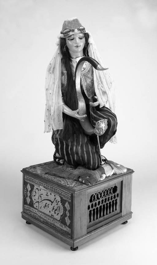 An automaton Egyptian harpist