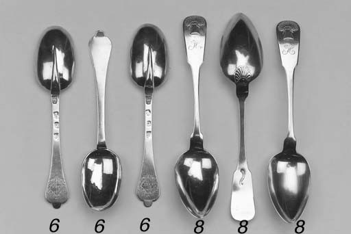 SIX QUEEN ANNE SILVER SPOONS