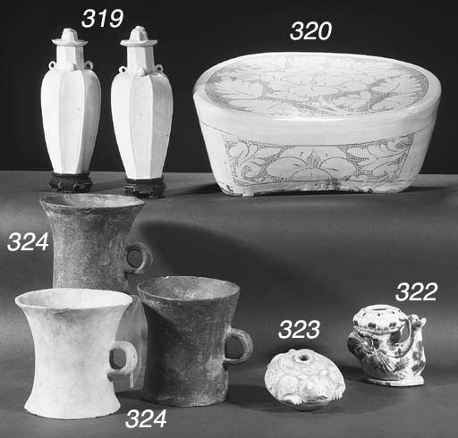 Three Neolithic flaring potter