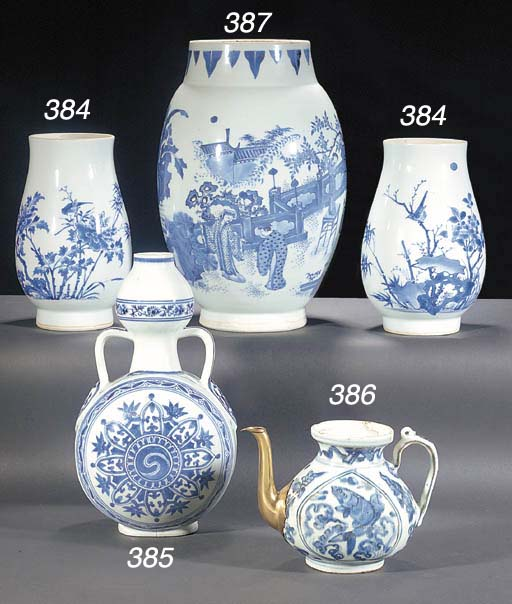 Two of Chinese blue and white