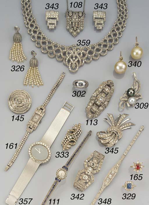 An diamond plaque brooch,