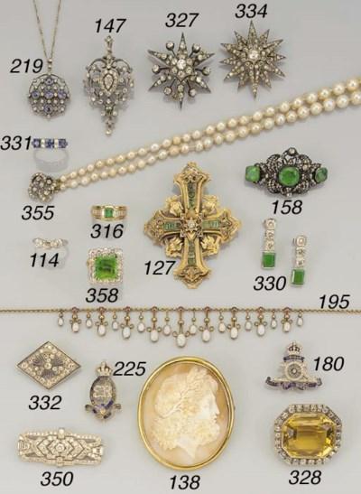 An Edwardian gold, opal and ru