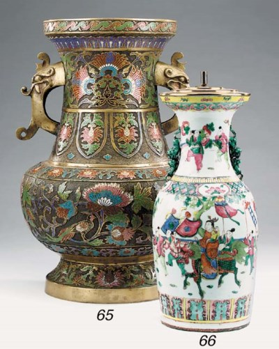 A large Chinese enamelled cloi