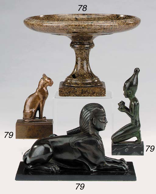 A French bronze model of a rec
