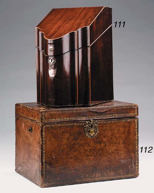 A George III mahogany and silv