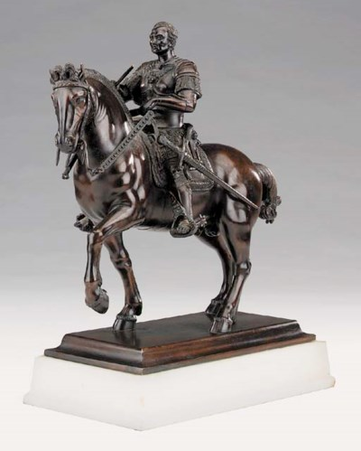An Italian patinated bronze mo
