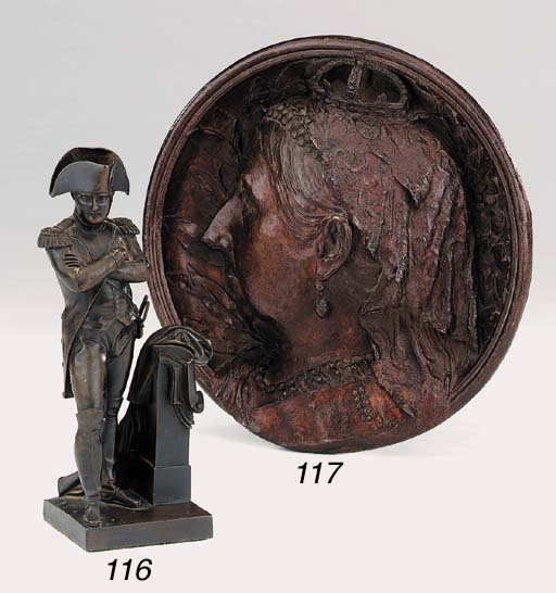 A French bronze figure of Napo