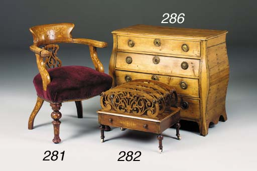 A mahogany Dutch marquetry and