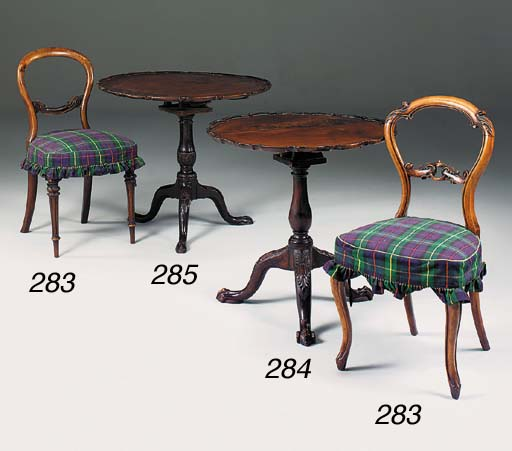 A mahogany tripod table, 19th