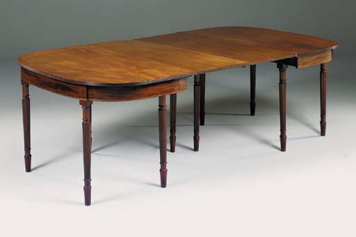 A mahogany and line inlaid ext
