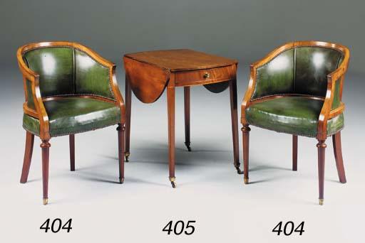 A George III mahogany and boxw