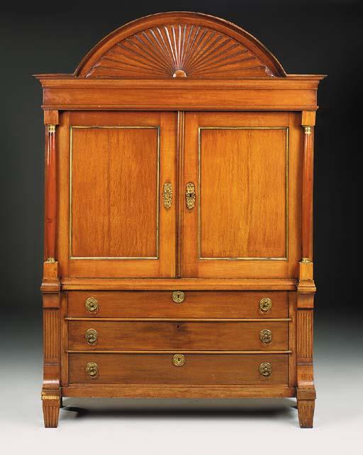 A Dutch oak and pine cas, 19th