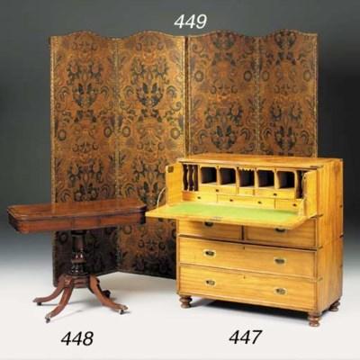 A Victorian camphor wood and b