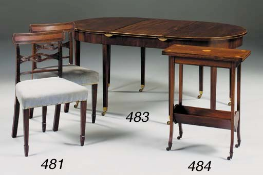 A pair of Regency mahogany din