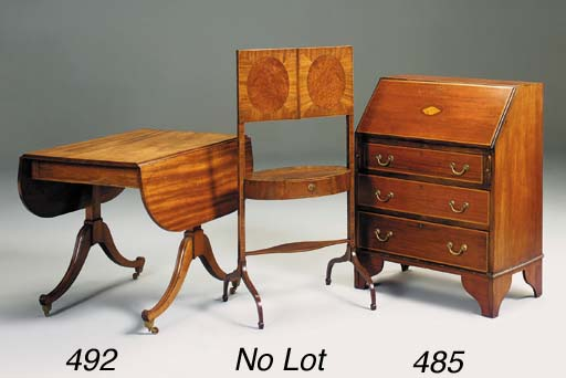 A mahogany sofa table, early 1