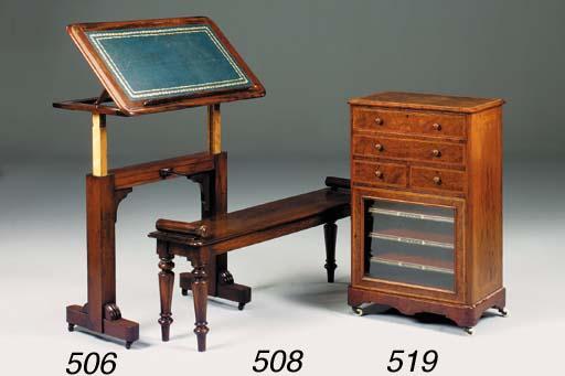 A long oak stool, 19th century