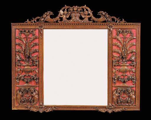 A mahogany overmantel mirror,